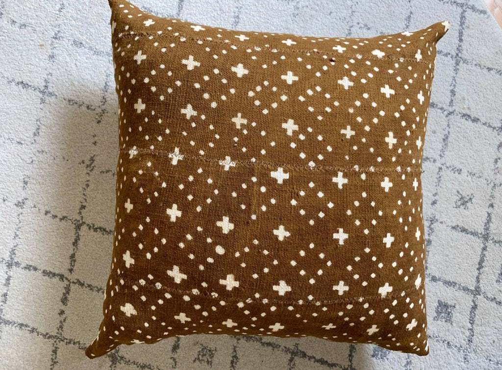 "LATRICE Throw Pillow | African Mud Cloth African Mud Cloth Hudson and Harper 18"" x 18"""