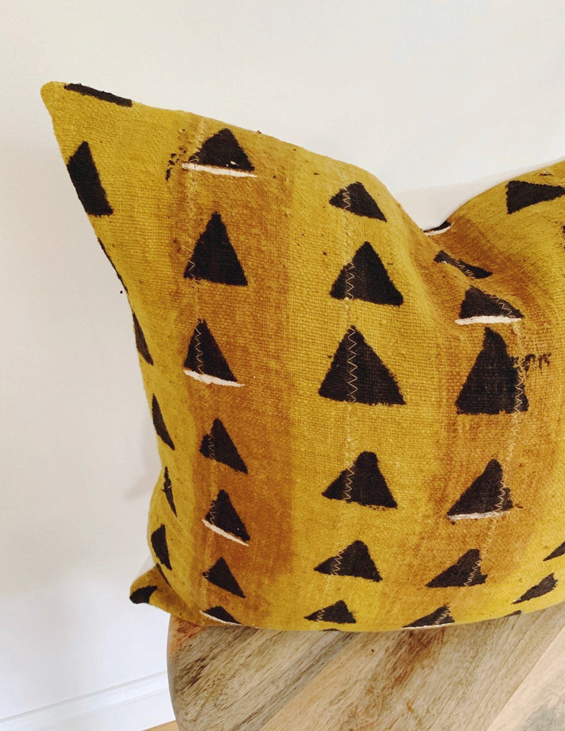 LEHANA Throw Pillow | African Mud Cloth