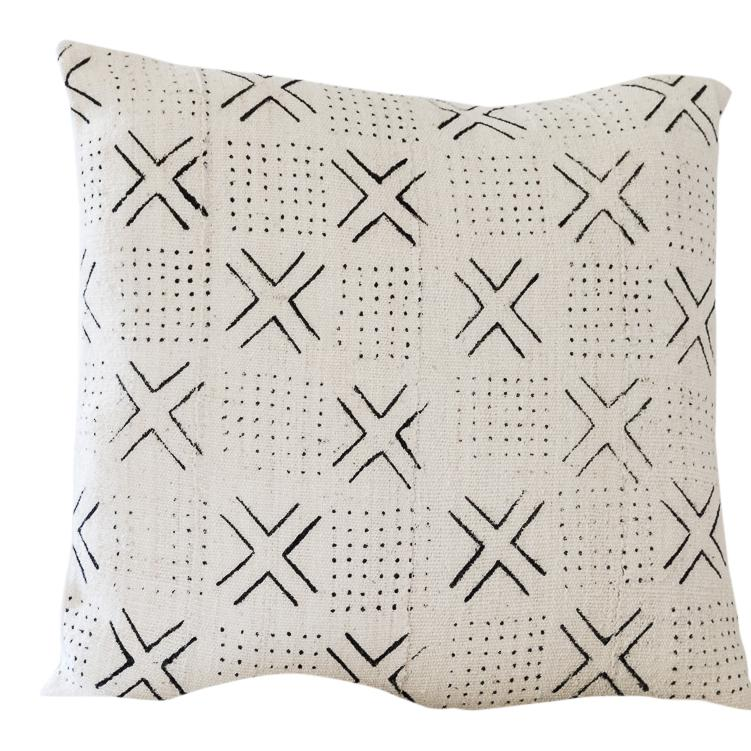 KOJO Throw Pillow | African Mud Cloth African Mud Cloth Hudson and Harper