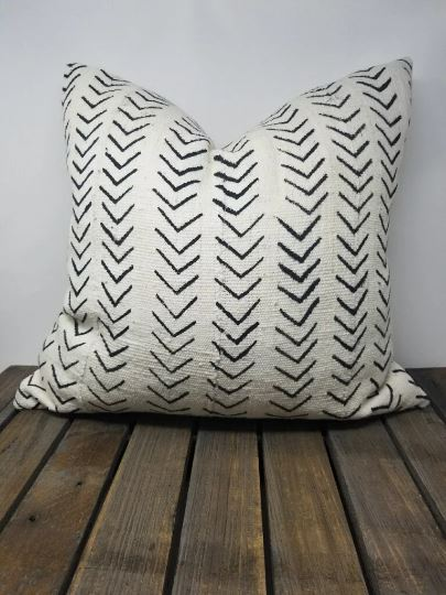 AZIBO Throw Pillow | African Mud Cloth