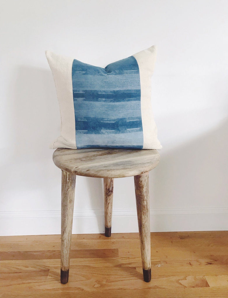 JIYA Throw Pillow | Mud Cloth & Indigo Shibori