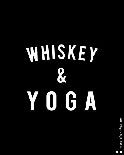 Whiskey & Yoga Scoop Tee
