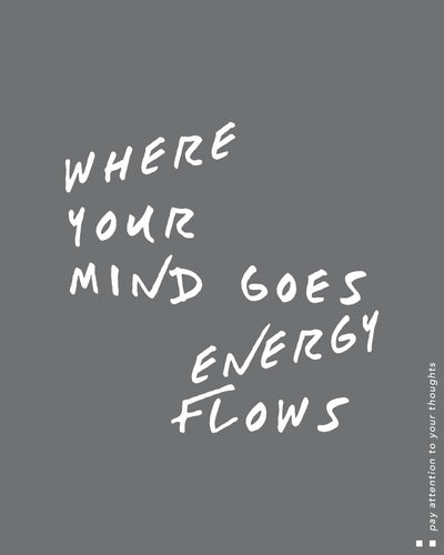 Where Your Mind Goes, Energy Flows High Neck Tank
