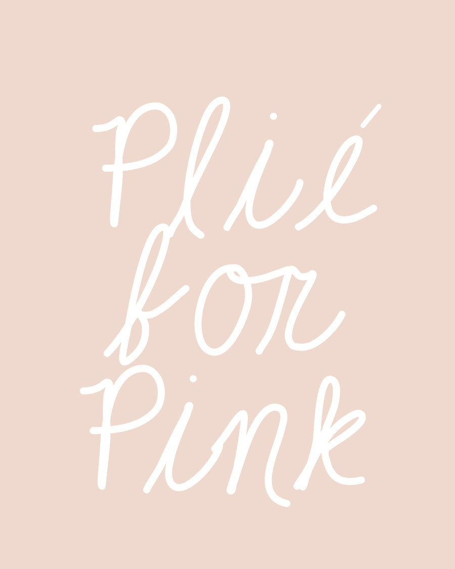 Plie For Pink Muscle Tank