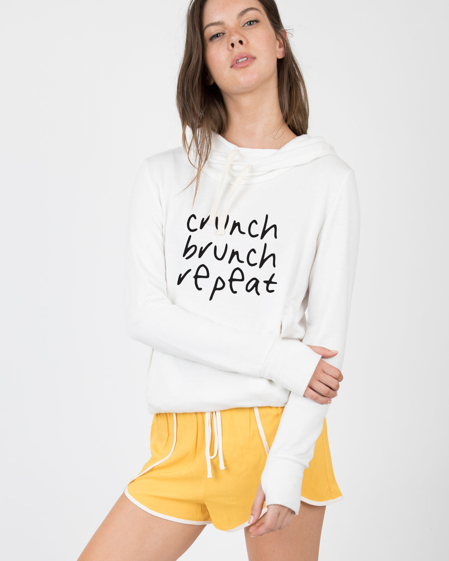 Crunch Brunch Repeat Hooded Sweater