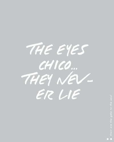 The eyes chico, they never lie Thermal
