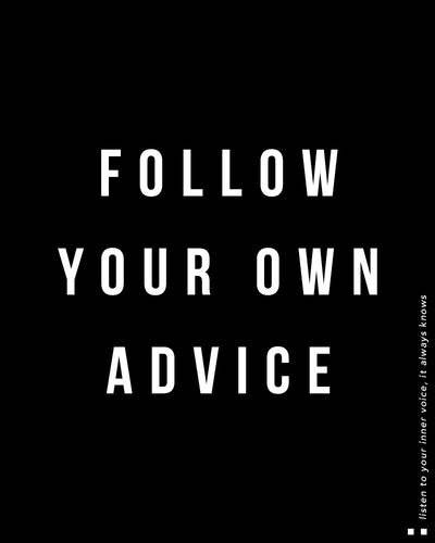 Follow your own advice Tee