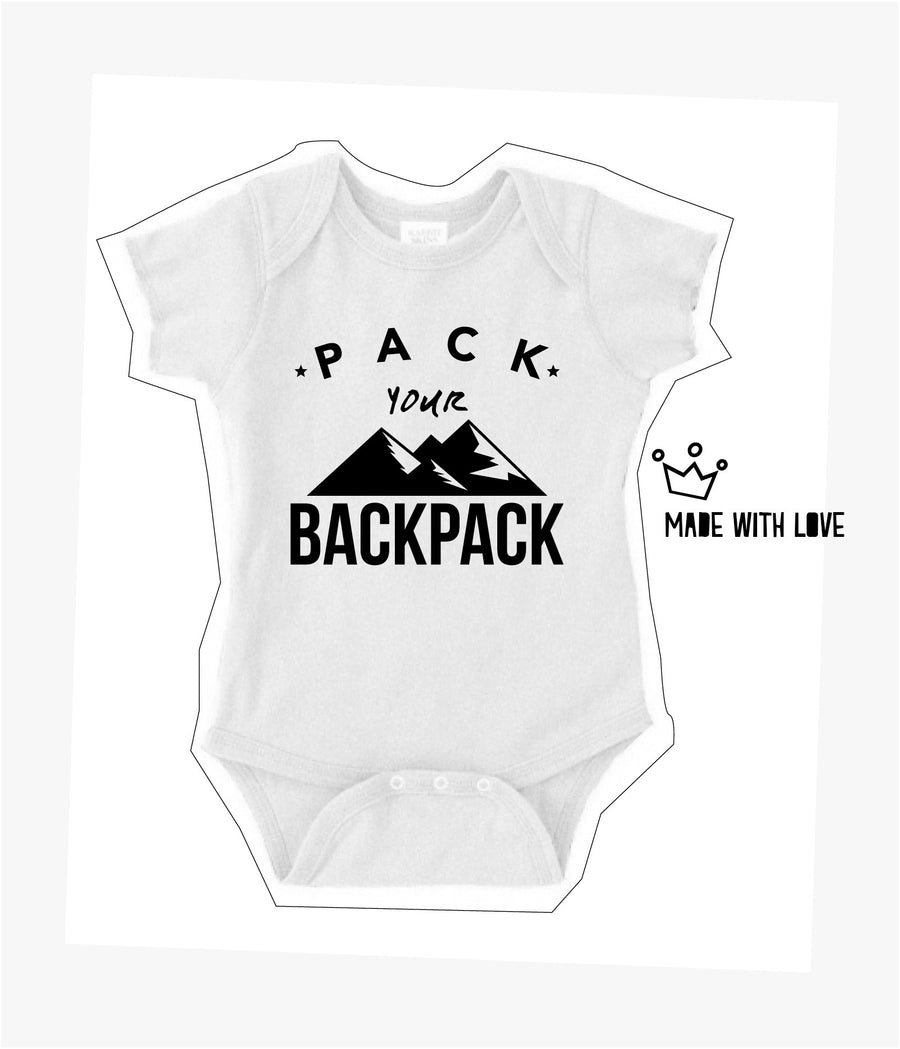 Pack Your Backpack Baby Onesie