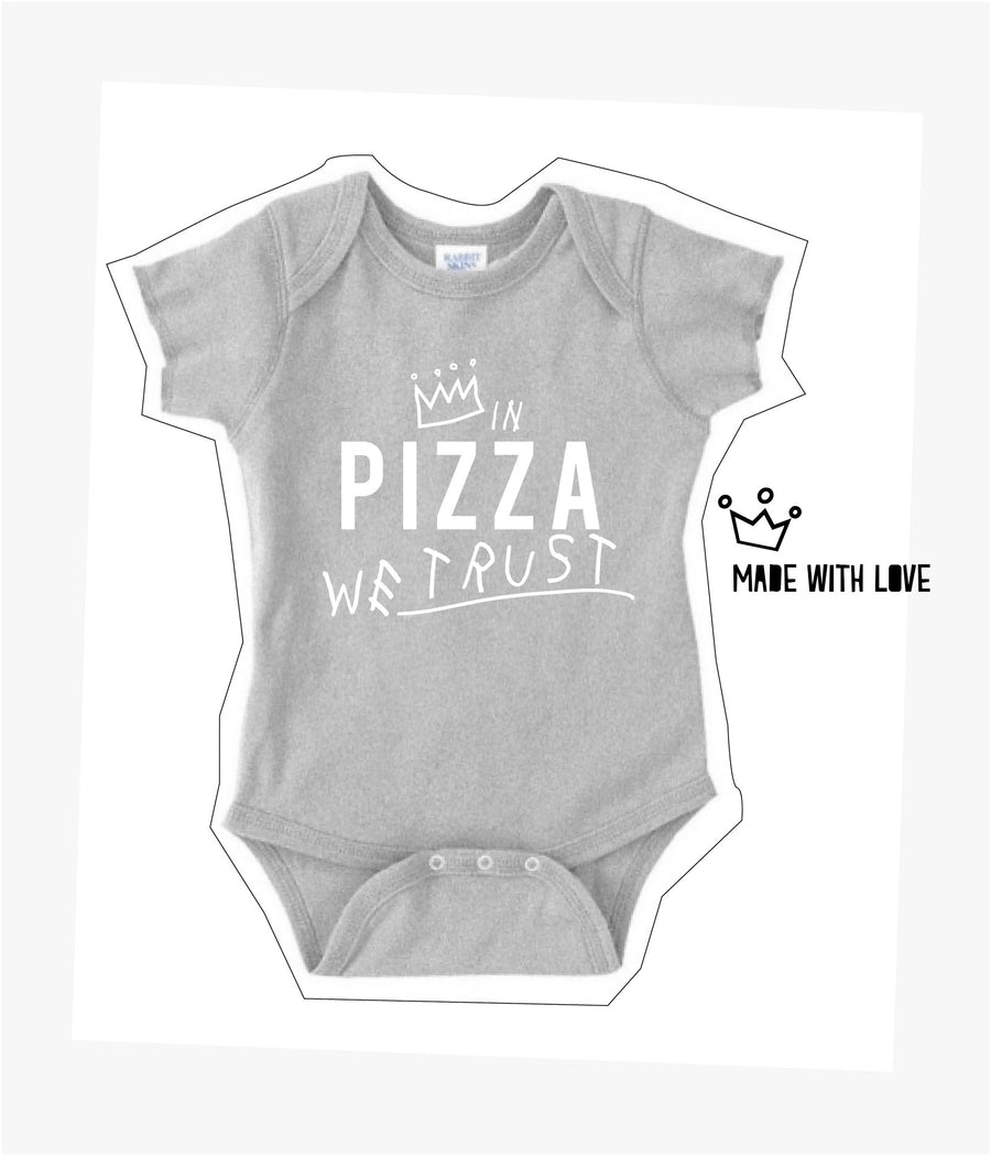 In Pizza We Trust Baby Onesie