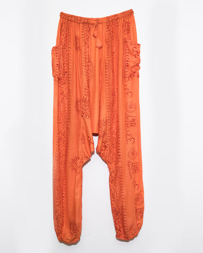 Orange Ocean Gypsy Pants