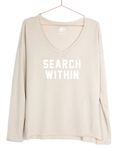 Search within V-Neck Long Sleeve Tee