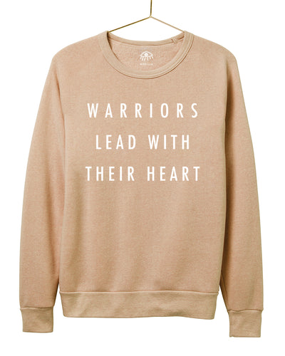 Warriors lead with their heart Crewneck