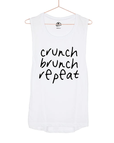 Crunch Brunch Repeat Muscle Tank