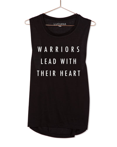 Warriors lead with their heart Muscle Tank