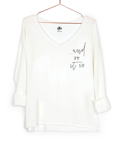 ... and so it is V-Neck Long Sleeve Tee
