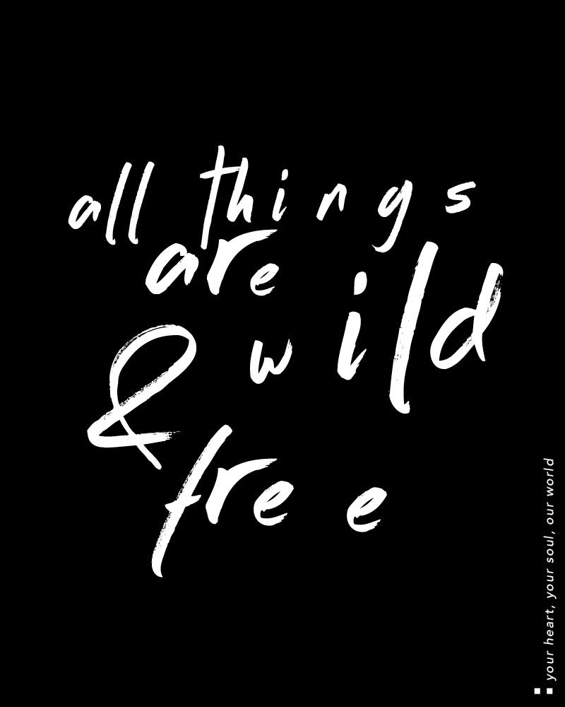 All things are wild and free Light Jacket