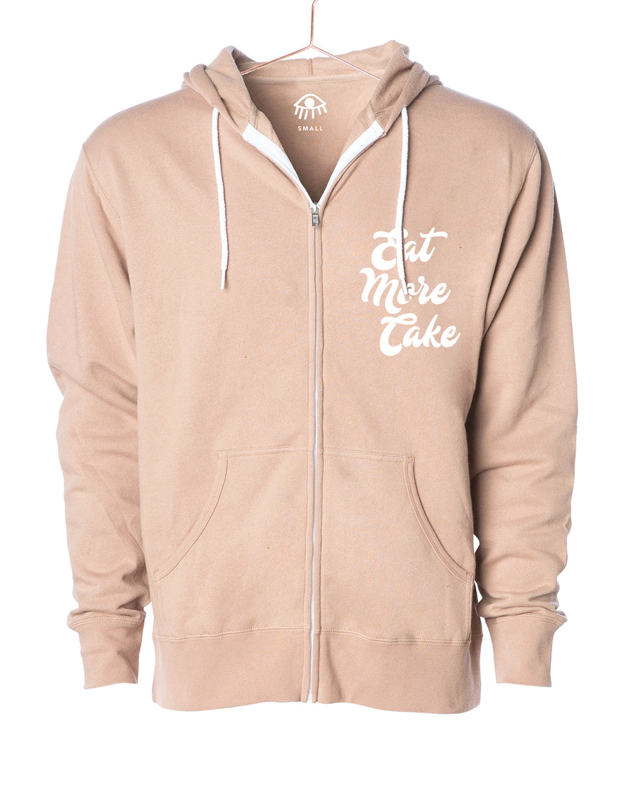 Eat more cake Zip Up Hooded Sweater