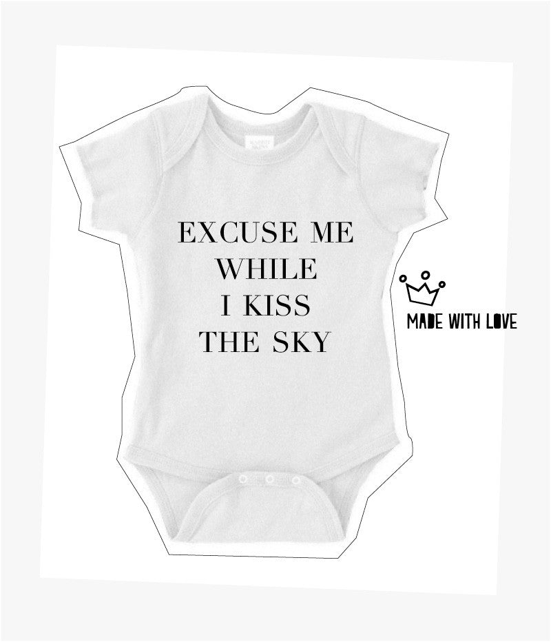 Excuse Me While I Kiss The Sky Onesie