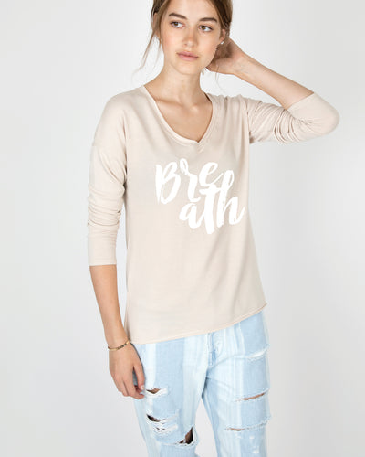 Breath V-Neck Long Sleeve Tee