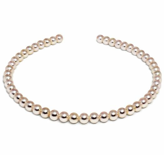 "18"" Hanadama Akoya Pearl Necklace Strand - 8.5mm - 9mm - 18 KT Gold Clasp"