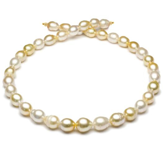"18"" Multicolor, South Sea Baroque Pearl Necklace, 8mm - 11mm, A, 14 KT Gold"