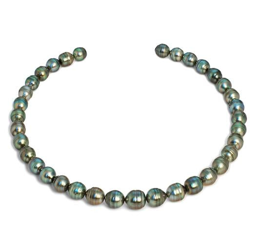 "18"" Tahitian Baroque Pearl Necklace, 9mm - 11.5mm, AA+, 14 KT Gold"