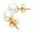 White Akoya Pearl Stud Earrings - 6-11mm - AA or AAA - 14KT & 18KT Gold