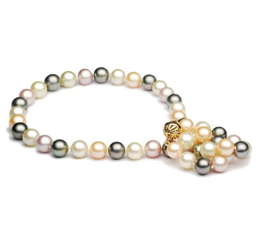 "18"" Multicolor Tahitian, South Sea & Freshwater Pearl Necklace, 8.5mm - 11mm, AA"