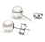 White Freshwater Pearl Stud Earrings - 6.5-10mm - 14KT Gold