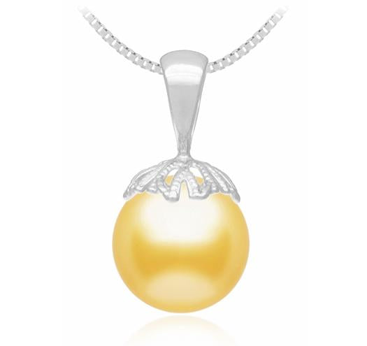 Golden South Sea Pearl Pendant - 9-14mm - 14KT Gold
