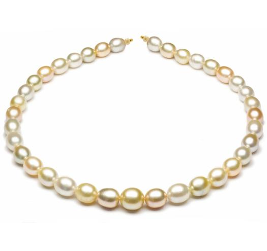 "18"" South Sea & Freshwater Pearl Baroque Necklace, 9mm - 12mm, AA, 14 KT Gold"