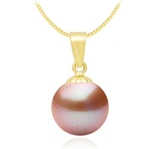 Freshwater Pearl Pendant - 6-9.5mm - 14KT Yellow Gold