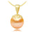 Freshwater Pearl Filigree Pendant - 6-9.5mm - 14KT Gold