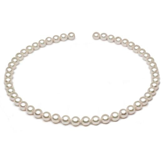 "18"" Akoya Pearl Necklace, 8.5mm - 9mm, AA+, 18KT Gold Clasp"