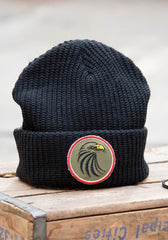 Black Patch Beanie