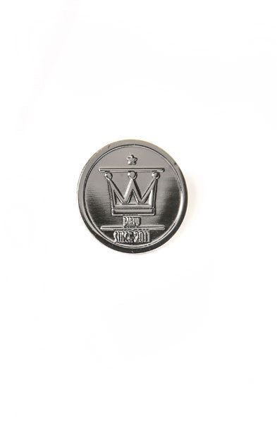 Gunmetal Crown Pin