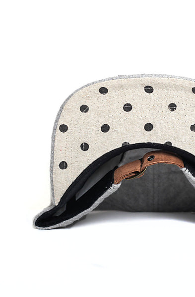 Quilted Strapback | Grey