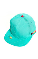 Quilted Strapback | Turquoise