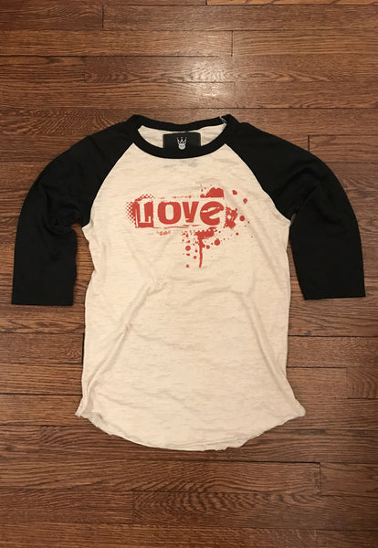 Love Baseball Tee - Black & Cream