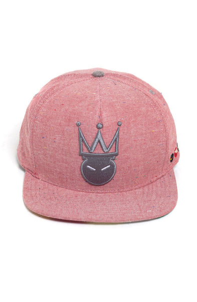 King Me Fleck SnapBack | Pale Red