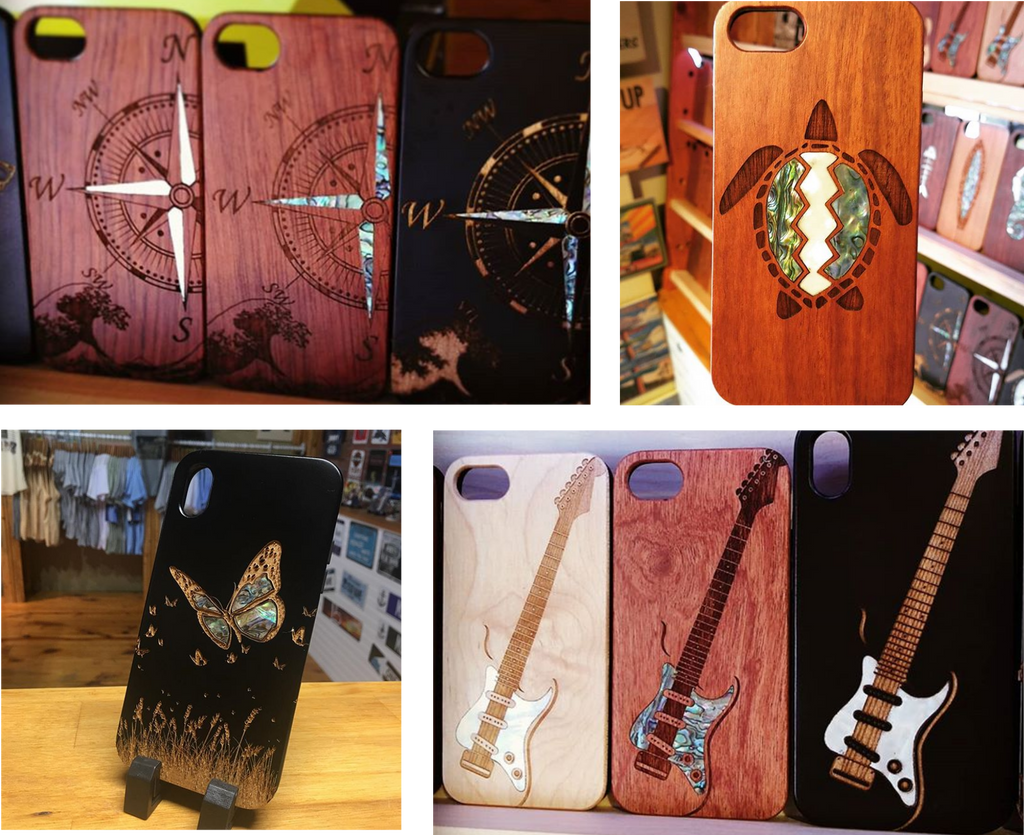 Mother of pearl inlay wooden cases