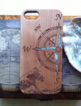 Wooden phone case with inlay