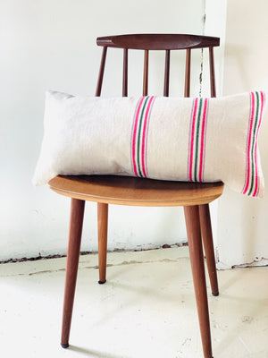 Handwoven Stripe Lumbar Pillow