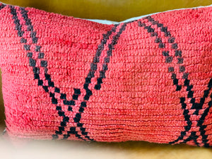 Moroccan Rug Pillow Red