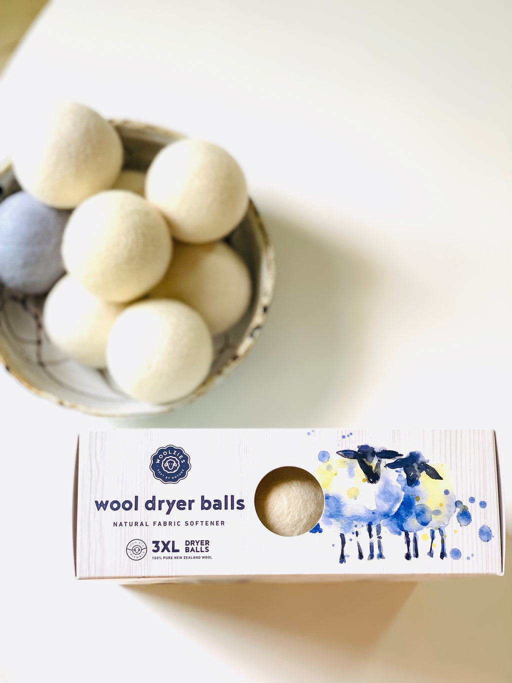 Wool Dryer Ball Trio
