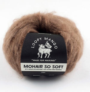 Bundle of 6   Loopy Mango Mohair So Soft * TIRAMISU*