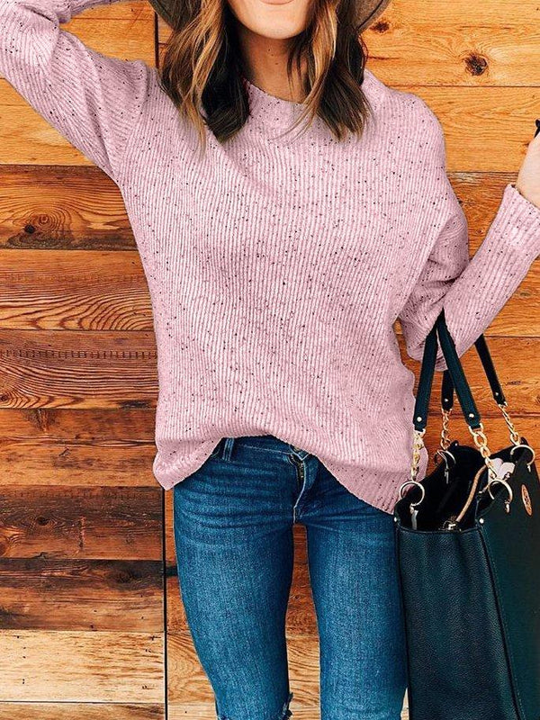 Plus Size Crew Neck Knitted  Sweater BUY 4 GET 1 FREE