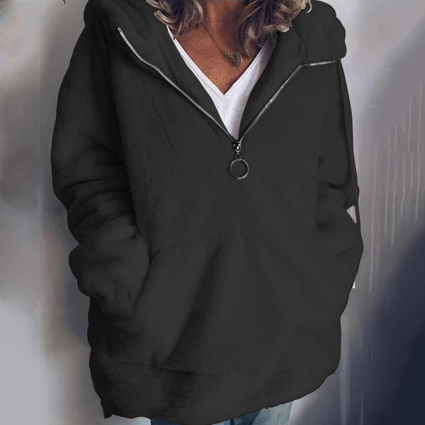 Autumn&Winter New Women Plush Hooded Sweatshirt