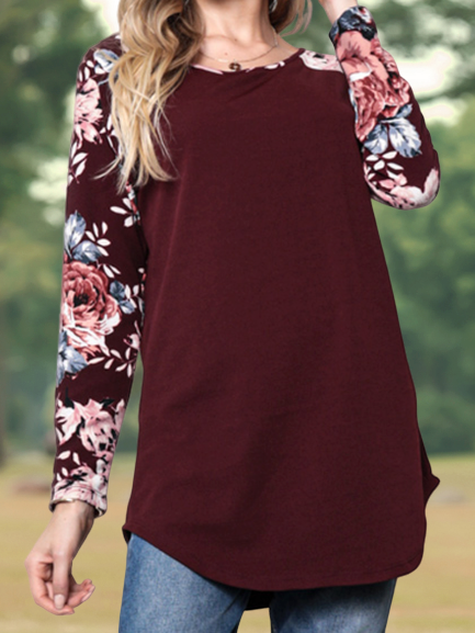 Casual Floral-Print Shirts & Tops
