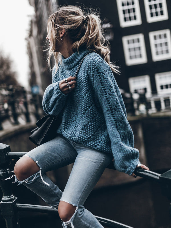 Stylish Cozy Oversized  Knit Sweater
